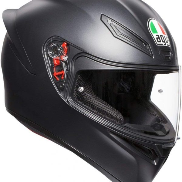 K-1 AGV E2205 SOLID MATT BLACK-0